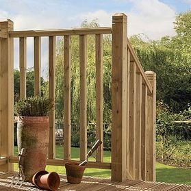 square hand rail profile system for decking